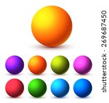 3d balls of different colors. | Shutterstock .eps vector #269687450