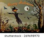 halloween background | Shutterstock .eps vector #269698970