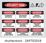 site safety signs  flammable... | Shutterstock .eps vector #269702018