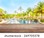 pool  swimming  deck. | Shutterstock . vector #269705378