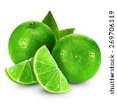 lime fruit isolated | Shutterstock . vector #269706119