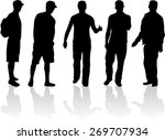 silhouette of a man | Shutterstock .eps vector #269707934