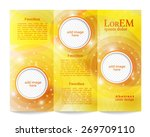 tri fold brochure template   Shutterstock .eps vector #269709110