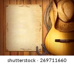 american country music poster... | Shutterstock . vector #269711660