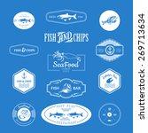 logo set for seafood restaurant ... | Shutterstock .eps vector #269713634