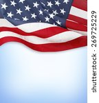american flag on blue background | Shutterstock . vector #269725229