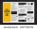 restaurant cafe menu  template... | Shutterstock .eps vector #269728196
