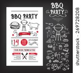 barbecue party invitation. bbq... | Shutterstock .eps vector #269728208