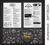 food menu  restaurant template... | Shutterstock .eps vector #269728220
