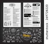 food menu  restaurant template... | Shutterstock .eps vector #269728220