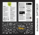 food menu  restaurant template... | Shutterstock .eps vector #269728229