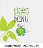 menu logo template vintage... | Shutterstock .eps vector #269728244