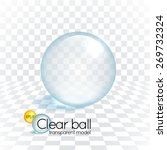 clear glass transparency sphere ...   Shutterstock .eps vector #269732324