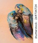original pastel painting on... | Shutterstock . vector #269734724