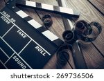 film  cinema  clapper. | Shutterstock . vector #269736506