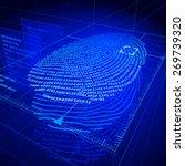 digital fingerprint... | Shutterstock . vector #269739320