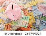 australian money   aussie...   Shutterstock . vector #269744024