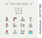 business thin line icon set for ... | Shutterstock .eps vector #269747384