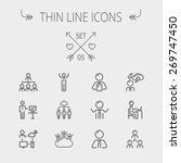 business thin line icon set for ... | Shutterstock .eps vector #269747450