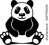 panda vector   Shutterstock .eps vector #269759654