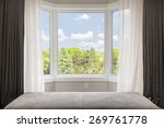 Bay Window With Drapes ...