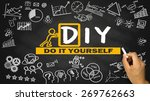 do it yourself diy concept hand ... | Shutterstock . vector #269762663