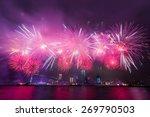 Fireworks At Victoria Harbor I...
