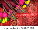 colorful ethnic shoes and camel ... | Shutterstock . vector #269801234