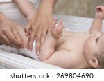thoughtful mom baby diaper... | Shutterstock . vector #269804690