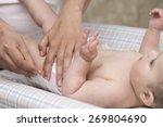 thoughtful mom baby diaper... | Shutterstock . vector #269804690