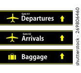 airport sign | Shutterstock . vector #269806460