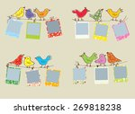 funny photo frames with birds... | Shutterstock .eps vector #269818238