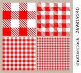red and white gingham seamless