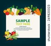 vegetables vector illustration.   Shutterstock .eps vector #269820323