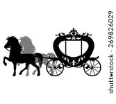 carriage pulled by two horses.... | Shutterstock .eps vector #269826029