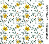 vector pattern with flowers and ... | Shutterstock .eps vector #269826329