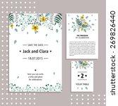 vector set of invitation cards... | Shutterstock .eps vector #269826440