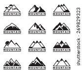 monochrome set of twelve... | Shutterstock .eps vector #269829323