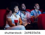 young couple watching a film at ... | Shutterstock . vector #269835656