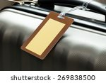 close up of blank luggage tag... | Shutterstock . vector #269838500