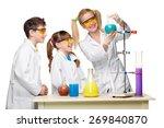 teens and teacher of chemistry...   Shutterstock . vector #269840870