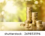 coin  gold  stack. | Shutterstock . vector #269853596