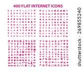 400 flat media  business ... | Shutterstock .eps vector #269855240