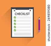 clipboard with checklist. | Shutterstock .eps vector #269859380