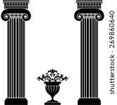 classical greek or roman... | Shutterstock .eps vector #269860640