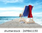 red towel pier and sea