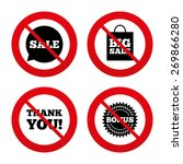 no  ban or stop signs. sale...   Shutterstock .eps vector #269866280
