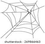 spider web monochrome. vector... | Shutterstock .eps vector #269866463