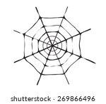 spider web monochrome. vector...   Shutterstock .eps vector #269866496