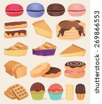 set of chocolate sweets  cakes... | Shutterstock .eps vector #269866553